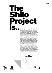 Warren Taylor's design for 'The Shilo project' catalogue, inspired by the clean lines of 1970s adverts in 'Billboard' magazine