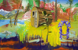 Stephen Bush, 'Shout on the hills of glory', 2008, oil and enamel on canvas, 200 x 300 cm, The Michael Buxton Collection, Melbourne © the artist