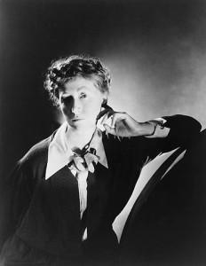 Marianne Moore (1887–1972). Photograph by George Platt Lynes, 1935, gelatin silver, 22.8 x 17.7 cm. Library of Congress.