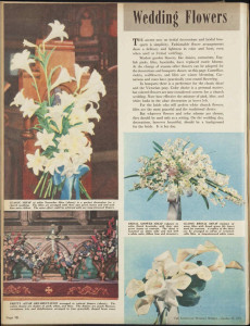 Wedding flowers, Women's Weekly, 28 October 1953
