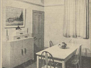 'Gay notes were introduced by ... the colored Van Gogh print on the wall over the sideboard'; decorating advice in the Women's Weekly, 24 July 1937.