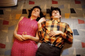 Robert Rooney, 'Maria Kozic and Phillip Brophy 1', 1981, digital photographic print from original 35 mm slide, 20 x 30.5 cm. Copyright Robert Rooney. Courtesy the artist and Tolarno Galleries.