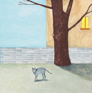 Noel McKenna, 'Pet cat frightened', 2014, oil on plywood, 42 x 44 cm. Copyright, the artist. Courtesy Darren Knight Gallery.