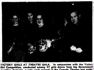 A newspaper report on the real Victory Girls; The Argus, 3 June 1943.