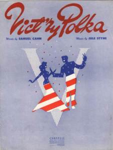 Sheet music for Samuel Cahn and Jule Steyne, 'Vict'ry Polka' 1943. Published in Australia by Chapell Music.